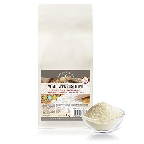 Vital Weizengluten 1 kg natürliches Verdickungsmittel rein pflanzlich   Weizeneiweiß   Seitan   kalorienarme Speisestärke   Backen und Kochen   Golden Peanut