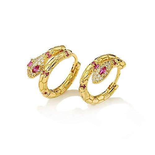 Los pendientes serpentinos tienen un diamante incrustado en la personalidad para mujeres y hombres