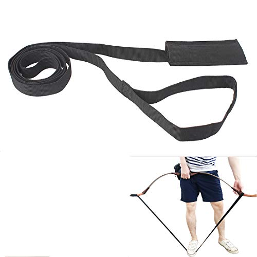 KRATARC Archery Recurve Bow Stringer Longbow Stringer Traditional Tool (Black)