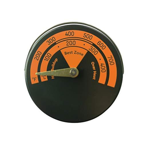 N/A. Termómetro magnético para chimenea, quemador de leña, barbacoa, medidor de temperatura del horno