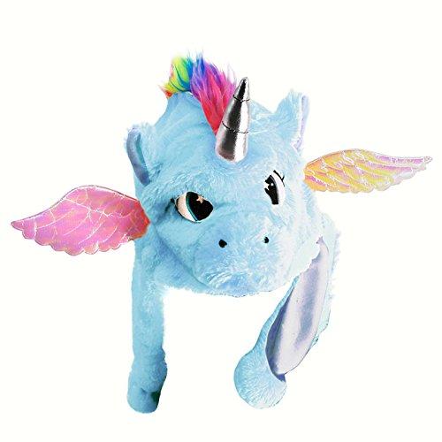 Gorro Unicornio Peluche Azul