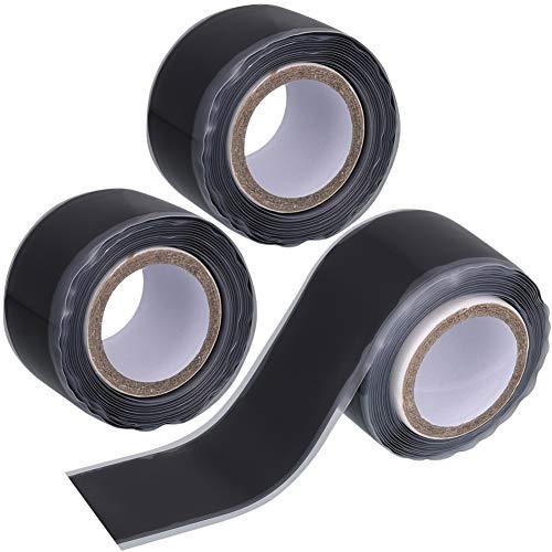 Firtink 3 Rolle Selbstklebendes Silikonband Komprimierband Wasserfest Selbstverschweißend Isolierband für Notfall-Klempnerarbeiten & Wasserschlauch-Lecks