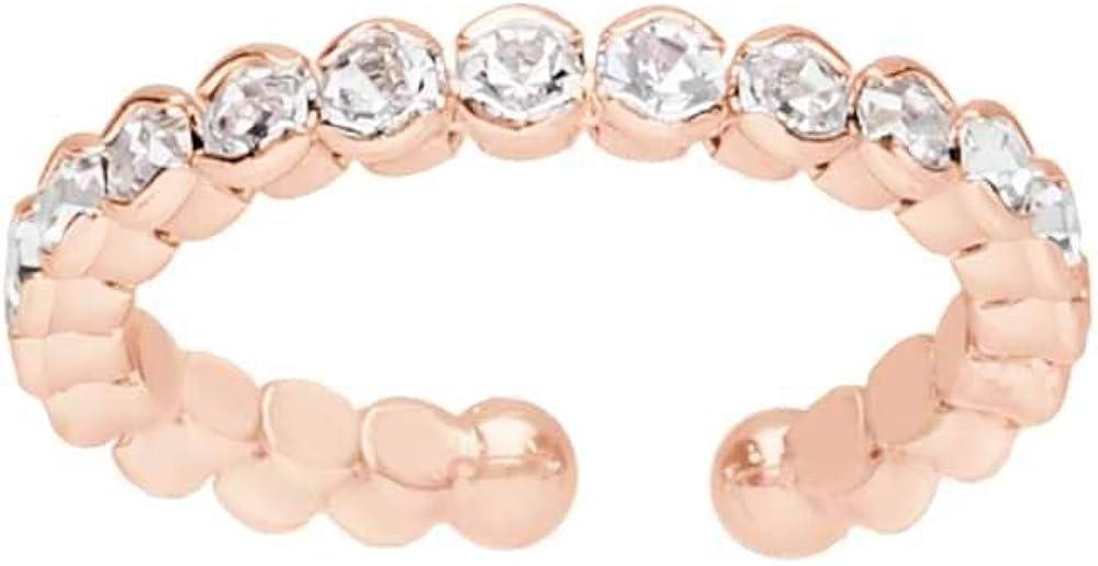 Stroili anello per donna romantic shine in metallo rosato rodiato e cristalli 1663909