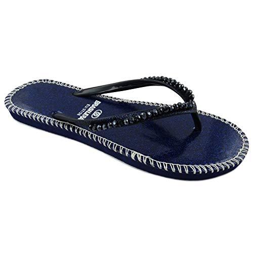 BRASILERAS Sandalen, Shiny, blau - blau - Größe: 37/38 EU