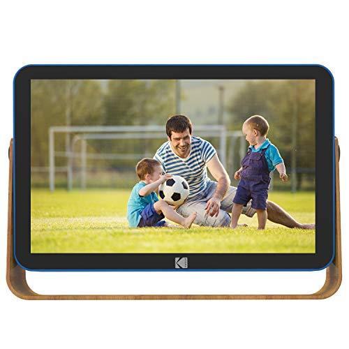 KODAK RCF-108 WiFi Digital Bilderrahmen, 10 Zoll 1280x800 IPS Touchscreen, eingebautem 4000mAh Li-Akku, 16 GB Speicher mit Bild Musik Video Digital Fotorahmen (Blau)