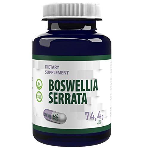 Boswellia Serrata (Indiase wierook) 10:1 Extract 5000mg Equivalent 120 Vegan Capsules, Analysecertificaat door AGROLAB Duitsland, hoge sterkte, geen vulstoffen of vulstoffen, gluten, GGO-vrij