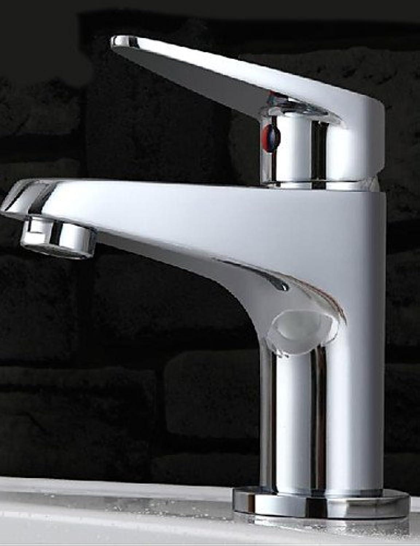 HJKDGH Faucet Single Hole Chrome Mixer Basin Faucet Sink Tap Deck Mount Sink Faucet Bath Faucet Vanity Faucet