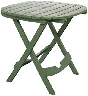 Weather-Resistant Adams Manufacturing 8550-01-3700 Quik-Fold Tag-Along Side Table in Sage