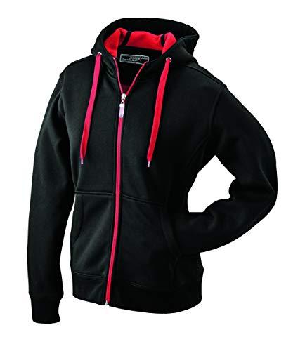 Veste Sportive Homme avec Capuche en Noir/Rouge Taille XL