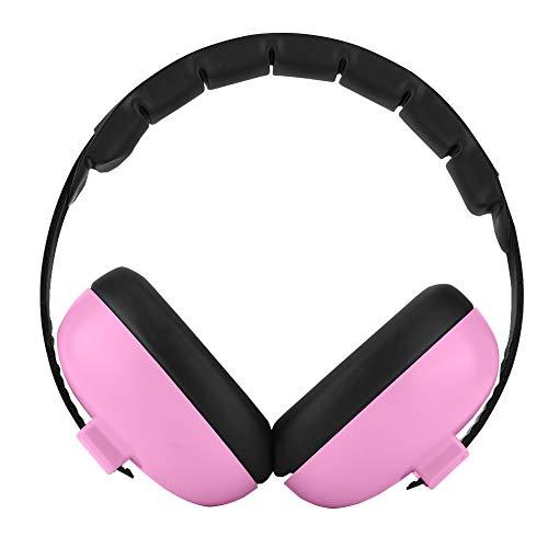 Gehoorbescherming voor baby's, SNR 27 dB Gehoorbeschermers met geluidsisolatie Comfortabele gehoorbeschermers voor kinderen voor baby's onder de 2 jaar met 3 lagen professioneel geluiddempend schuim (roze)