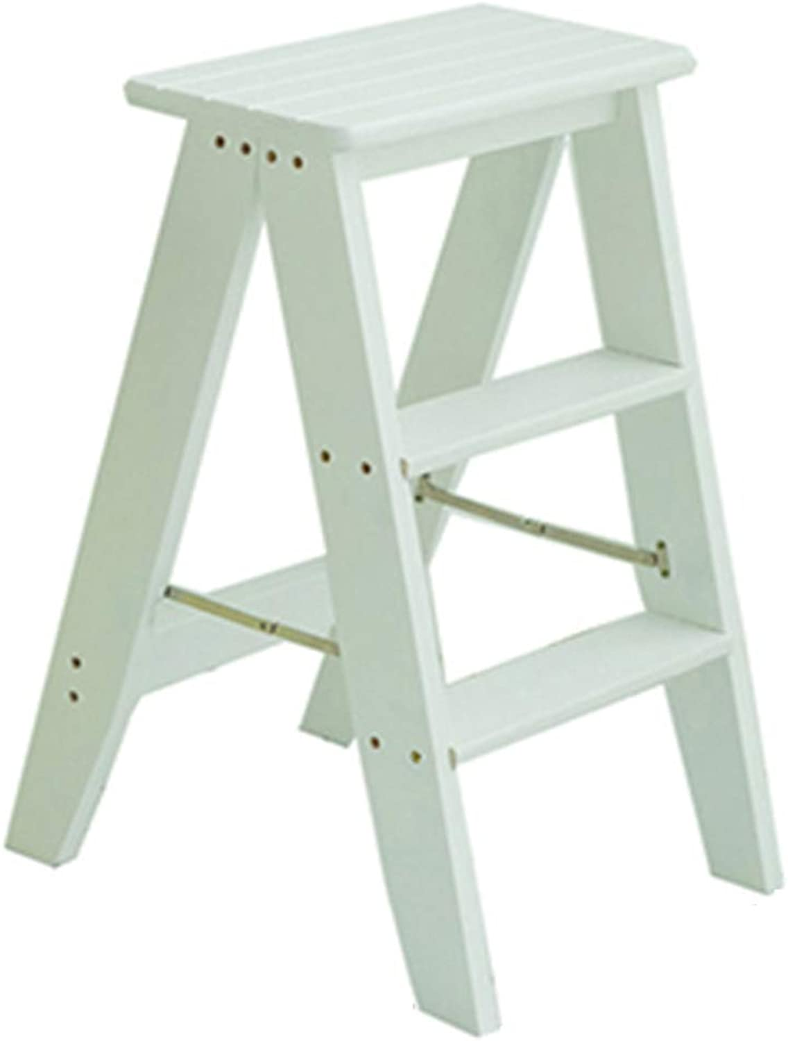 Solid Wood-Step Stools Stool 3 Layer Ladder Step Stool Household
