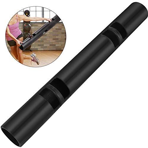 Frantools 8KG Rodillos de Goma de Fitness 110x12.7cm Fitness Tambor de Goma Multifuncional Entrenamiento con Pesas Vipr Tubo de Entrenamiento Gym Lifting Músculo portátil Negro