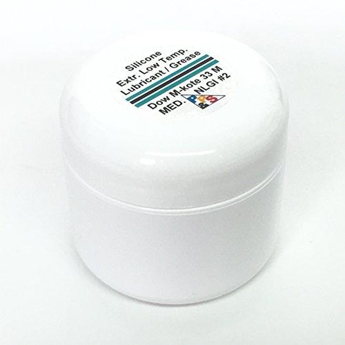 Dow Corning Molykote 33 Medium Silicone Low Temperature Bearing Grease Lube, Medium NLGI #2 Consistency Grade, 57g or 2oz