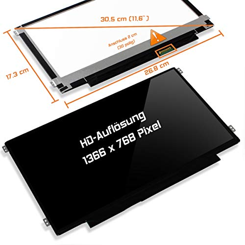 "Laptiptop 11,6\"" LED Display Screen Glossy Ersatz für Asus Vivobook E200ha-Fd0006ts HD Bildschirm Panel"