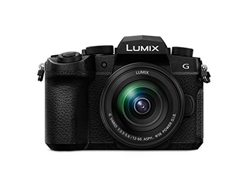 Panasonic DC-G91MEG-K Systemkamera mit 12-60 mm MFT Objektiv, 20 MP, Dual I.S., Hybrid-Kontrast-AF, 4K Fotokamera, schwarz