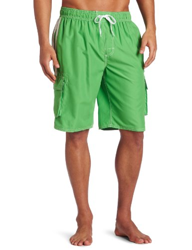 Kanu Surf Men's Barracuda Swim Trunk, Green, Medium