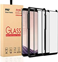 [2-PACK] Galaxy S8 Screen Protector Glass [Easy Installation Tray], iAnder 3D Curved [Tempered Glass] Screen Protector for Galaxy S8 [Case Friendly]