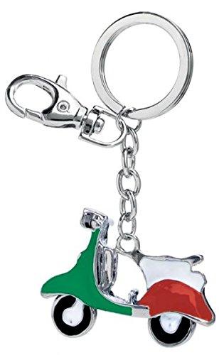 Ten sleutelhanger. Vespa groen/wit/rood cod. EL3058 cm 8,5 x 5,5 x 1 h van Varotto & Co.
