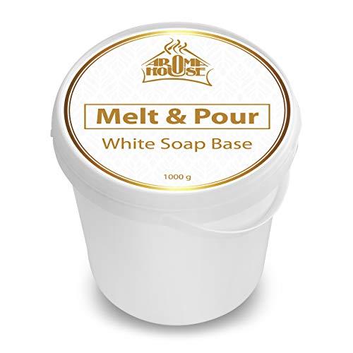 Base de Jabón de Cristal Blanco Derretir & Verter 1000g / 1kg - Base de Jabón para la Fabricación de Jabón - para Todos los Tipos de Piel - Glycerin Base Jabón - para Handmade - Hobby