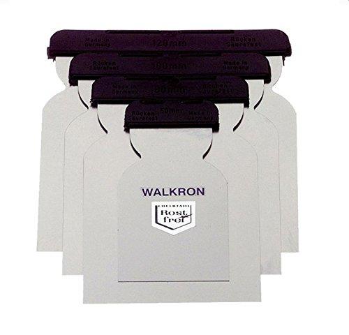 Rugoplast Set Spatole da Carrozzeria Inox 4 Misure Include 2 Set