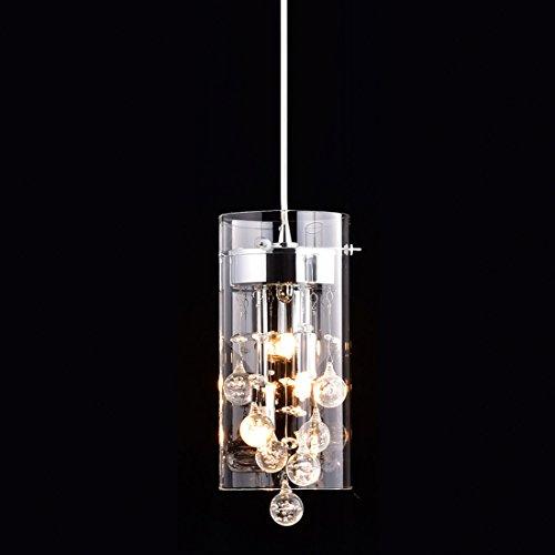 Truelite Modern G9 Glass Pendant Crystal Hanging Light Fixture