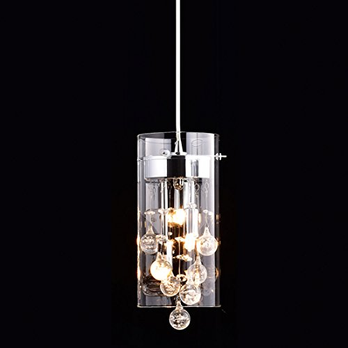 Truelite Modern G9 Glass Pendant Crystal Hanging Light...