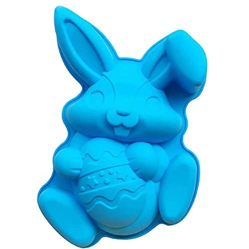 GGOOD Forma Conejito Pastel de Pascua de Chocolate del Molde Molde de Silicona Molde de la hornada del Conejo por DIY Jelly Cookies Pudín del Cubo de Hielo Vela fabricación de Herramientas
