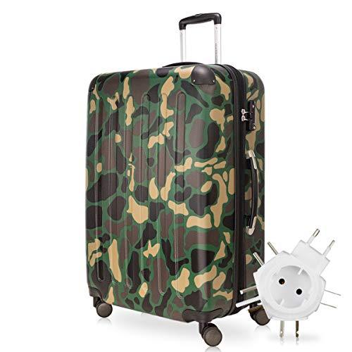 Hauptstadtkoffer - Spree Hartschalen-Koffer-XL Koffer Trolley Rollkoffer Reisekoffer Erweiterbar, 4 Rollen, TSA, 75 cm, 119 Liter, Camouflage inkl. Universal...