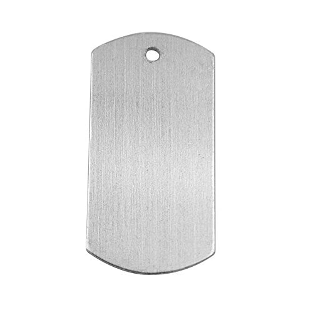 GazeKu Blank Stamping Tags, W/Hole, Aluminum .063 Inch (14 Ga.) (1X2 Inch Vertical Line 25)