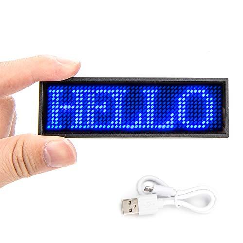 Leadleds - Placa de luces LED programables con mensaje desplazable, para camiseta