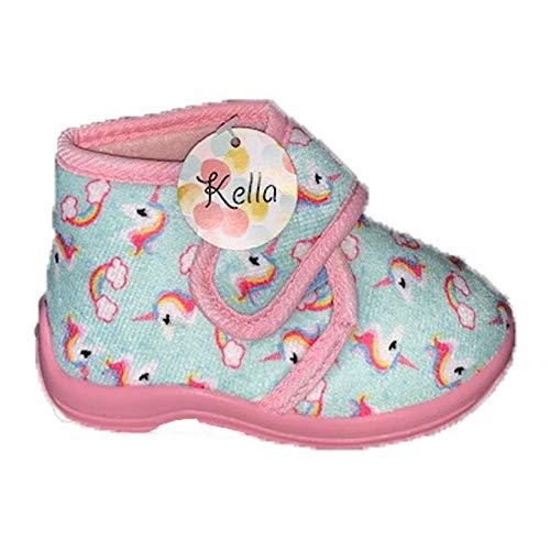 Kella - Pantuflas de unicornio para niños, color Rosa, talla 25 EU