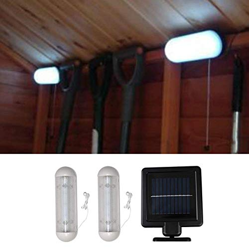 LED Solar Schuppen Licht Außen Solar Wandlicht Lampe Außen Innen Wasserdicht Sicherheit Glashaus Arbeits Worksman Garten Licht für Garage, Schuppen Stabil Garten Hof