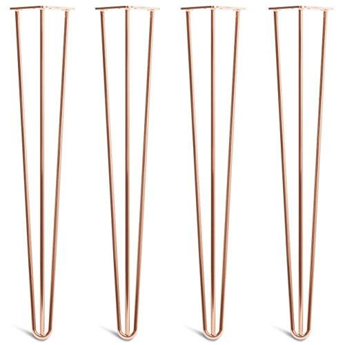[HLC] 4 x Hairpin Table Legs – Superior Double Weld Steel...