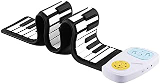 Portable Flexible Roll Up Piano Keyboard 49 Keys Silicone Piano Electronic Keyboard Instrument, Recordable and Playable, E...