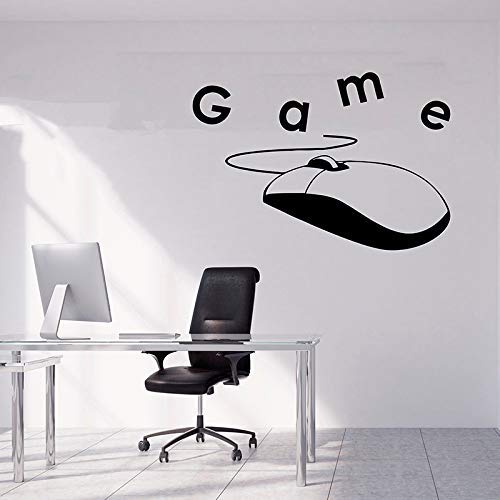 Gamer Sticker Game Machine Vinyl Sticker Video Game Wall Decal Game Over Decals Game Boy Room Decor Gamer Gift Removable A 31X29Cm