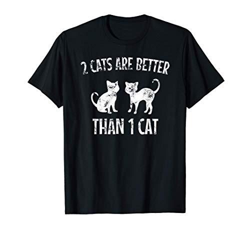 Gato Dos Gatos Son Mejores Que Un Gato Regalos Camiseta