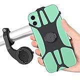Maxuni Soporte Móvil Bicicleta, Soporte Teléfono Bicicleta y Motocicleta de Silicona Ajustable Anti vibración Rotación de 360° Universal para 4.0-6.8 pulgadas Smartphone, Compatible con iPhone Samsung