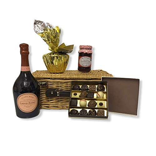 75cl Laurent-Perrier Rose Champagne Ladies Indulgence Gift Food Hamper - Gift Ideas for Mum, her, Valentines, Mother's Day, Birthday, Anniversary, Business and Corporate, Christmas