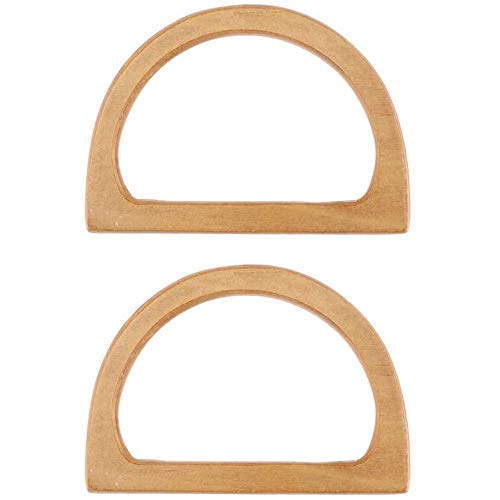 POFET 1 par de asas de madera para bolso de mano, fácil fijación