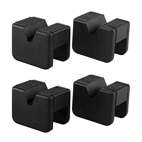 Seven Sparta Jack Pad Adapter for Jack Stand Universal Rubber Slotted Frame Rail Pinch Welds Protector(4Pack)