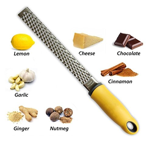 Kitchen kaasrasp & citroenen schraper met scherp 18/8 roestvrij staal lemmet -Gemakkelijk het raspen of schrapen van Citroen, Oranje, citrusvruchten, kaas, Chocolade en noten