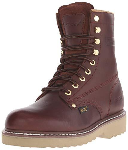 AdTec Mens Redwood 8in Farm Boots Full Grain Leather Plain Toe 11.5 M