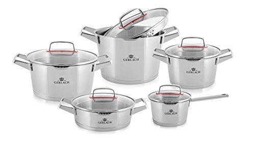 Gerlach Topfset Superior, Stainless Steel, Silber, 24 cm, 10-Einheiten