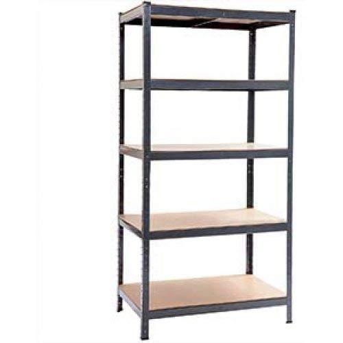 WUSI Metal Heavy Duty Garage Storage Shelf Units Metal & MDF Boltless Assembly System, 1bay