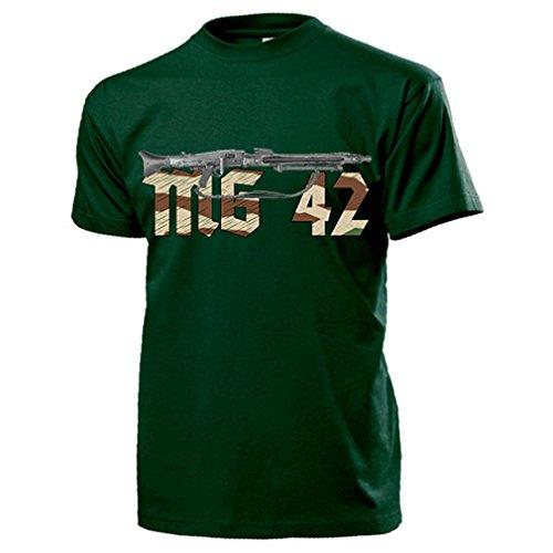 MG 42 Säge Maschinengewehr Wh Splittertarn Deko Gewehr Waffe Bodenfund Militaria - T Shirt Herren grün #18060