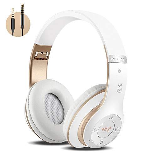 Kabellose Kopfhörer Over Ear, Bluetooth Wireless Kopfhörer HiFi Stereo Zusammenklappbarer Kabellos Headphone, Unterstützt die Micro SD/TF FM (für iPhone/Samsung/iPad/PC)