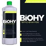 BIOHY Teppichshampoo 1 Liter Flasche Konzentrat - Shampoo für Teppich und...