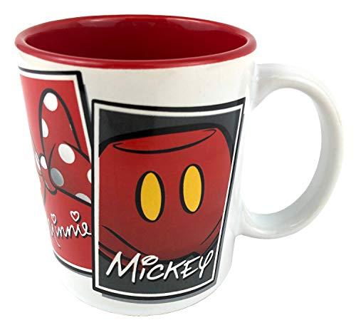Disney Ikonen Mickey Mouse, Minnie, Goofy und Donald Duck, Keramik-Kaffeetasse, 325 ml