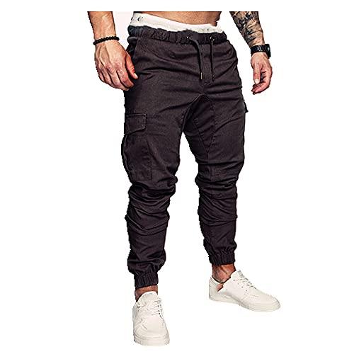 N\P Verano y Otoño Pantalones de chándal elásticos para hombre
