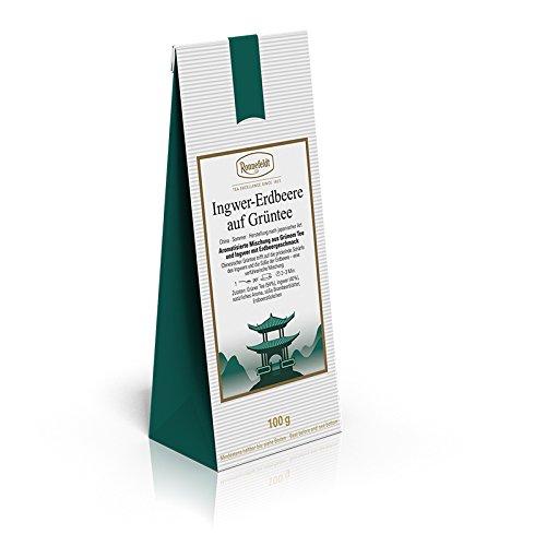 Ronnefeldt - Ingwer-Erdbeere auf Grüntee - Aromatisierter Grüner Tee - 100g